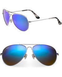 Maui Jim - Mavericks Aviator Sunglasses - Lyst
