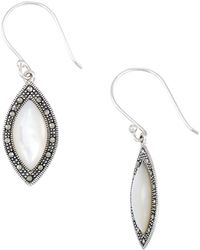 Lord & Taylor - Mother-of-pearl Marquise Shaped Drop Earrings - Lyst