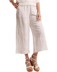 Svilu - Floral Embroidered Cropped Pants - Lyst