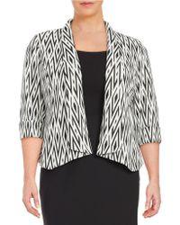 Nipon Boutique - Plus Shawl Collar Blazer - Lyst