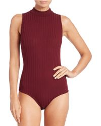 Lord & Taylor - Ribbed Bodysuit - Lyst