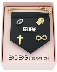 BCBGeneration - For Pins Sake Believe Bracelet Charm - Lyst