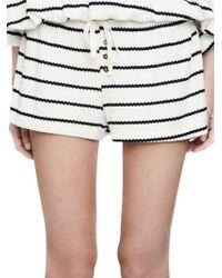C&C California - Thermal Modal Striped Shorts - Lyst