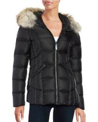 Dawn Levy - Niki Fur-trim Hooded Down Puffer Jacket - Lyst