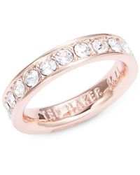 Ted Baker - Crystal Pave Ring - Lyst