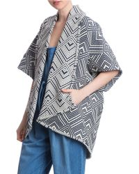 Plenty by Tracy Reese - Shawl Collar Open Front Coat - Lyst