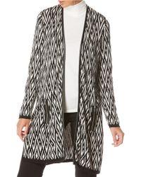 Rafaella - Petite Long Sleeve Jacquard Duster Coat - Lyst