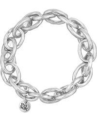 The Sak - Silvertone Link Stretch Bracelet - Lyst