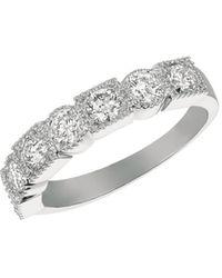 Morris & David - Diamond, 1 Tcw And 14k White Gold Ring - Lyst