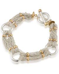 Lauren by Ralph Lauren - 12k Goldplated Brass Chain-and-ring Bracelet - Lyst