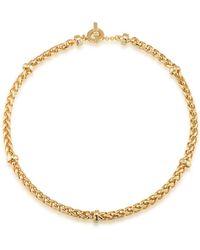 Lauren by Ralph Lauren - 12k Goldplated Braided Necklace - Lyst
