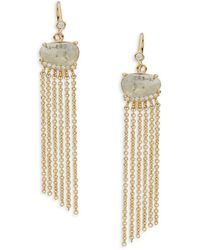 Tai - Labradorite Fringe Drop Earrings - Lyst