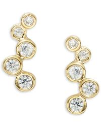 Tai - Bubble Pave Stud Earrings - Lyst