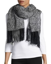 Lord & Taylor - Boucle Fringed Wrap - Lyst