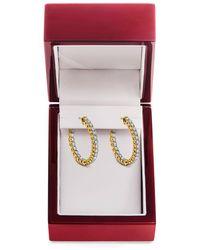 Lord & Taylor - 14k Yellow Gold Hoop Earrings - Lyst