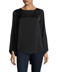 Lord & Taylor - Knit Hi-lo Blouse - Lyst