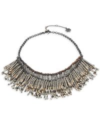 Nanette Lepore - Fringed Faux Pearl Bib Necklace - Lyst