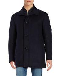 BOSS Green - Coxtan Wool-blend Zip-front Coat - Lyst