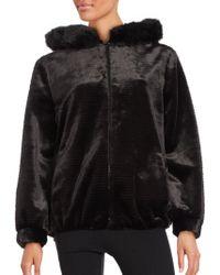 Gallery - Faux Fur Zip-front Short Coat - Lyst