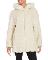 Gallery - Hooded Faux Fur Coat - Lyst