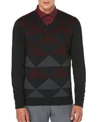Perry Ellis - V-neck Jersey Pullover - Lyst