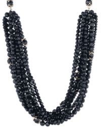 Ivanka Trump - Cubic Zirconia And Goldplated Beaded Collar Necklace - Lyst