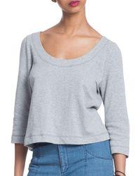 Plenty by Tracy Reese - Heathered Three-quarter Sleeve Sweatshirt - Lyst
