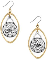 Lucky Brand - Two-tone Drop Earrings - Lyst