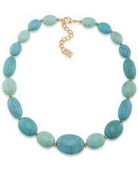 Lauren by Ralph Lauren - Paradise Found Turquoise Stone Collar Necklace - Lyst