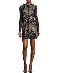 Nicole Bakti | Contrast Floral Lace Panelled Dress | Lyst