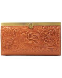Patricia Nash - Cauchy Floral Embossed Leather Wallet - Lyst