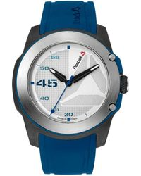 Reebok - Haymaker Logo Textured Dial Silicone Strap Watch - Lyst