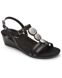 Vionic - Noleen Leather Wedged Sandals - Lyst