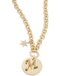 R.j. Graziano - M Initial Pendant Necklace - Lyst