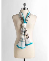 Lord & Taylor | Silk Plaid Scarf | Lyst