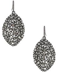 ABS By Allen Schwartz - Faceted Almond Drop Earrings - Lyst