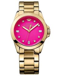 Juicy Couture - Ladies Goldtone And Crystal Stella Watch - Lyst