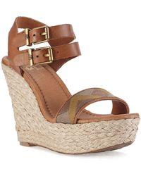 Elliott Lucca - Giulia Platform Wedge Sandals - Lyst