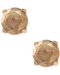 Lucky Brand - Goldtone Rock Crystal Stud Earrings - Lyst