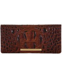Brahmin - Melbourne Collection Ady Croco-embossed Wallet - Lyst