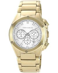 Vince Camuto - Mens Goldtone Bracelet Watch With Silver-tone Accents - Lyst