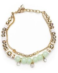 Lonna & Lilly - Soft Green And Goldtone Bead Bracelet - Lyst