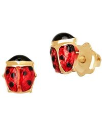 Lord & Taylor - 14k Yellow Gold Ladybug Stud Earrings - Lyst