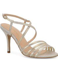 Carmen Marc Valvo - Gracie Embossed Leather Sandals - Lyst