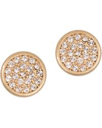 Lonna & Lilly - Glitz Stud Earrings - Goldtone - Lyst