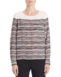 Lord & Taylor - Petite Patterned Blouse - Lyst