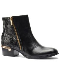 Isola - Daylin Croc-embossed Leather Ankle Boots - Lyst
