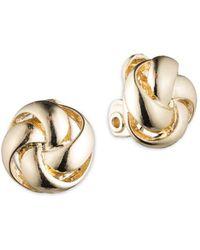 Anne Klein - Woven Knot Earrings - Lyst