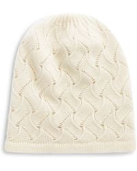Lord & Taylor - Pointelle Cashmere Hat - Lyst