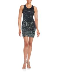 Mac Duggal - Ombre Sequin Shift Dress - Lyst